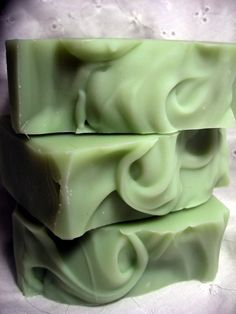 Cucumber Soap CP - canola, coconut, olive, palm oils & shea butter + cucumber. Super creamy and lathery. Very nice and soothing.