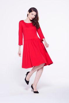 furelle #totallook #fashion #newwarrival #autumn #reddress