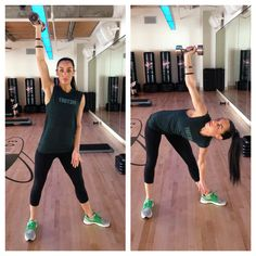 Five Moves to Get You Bikini Ready: Windmill with Dumbbell Press #SelfMagazine