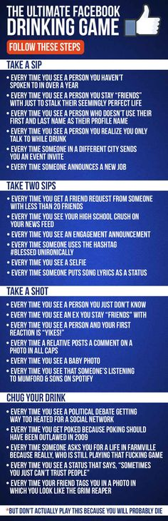 The Ultimate Facebook Drinking Game