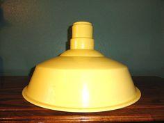 Vintage Industrial Pendant Light Metal Lamp by bluebonnetfields, $90.00