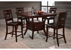 Lacks | Lubbock 5-Pc Counter Height Dining Set