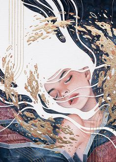 Hieu Nguyen, better known by his alias Kelogsloops, is an Australian watercolor artist. Kelogsloops also makes digital drawings. Art Inspo, Kunst Inspo, Art And Illustration, Illustrations, Watercolor Illustration, Fantasy Kunst, Fantasy Art, Anime Kunst, Anime Art