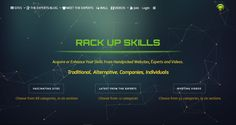 """""""Picks, selects and organizes the best web sites where you can improve or refine specific skills.""""  BM: affiliate commissions http://rackupskills.com/"""