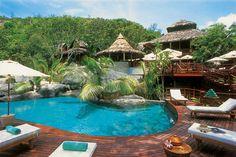 Hôtel Constance Lemuria sur l'île de Praslin, aux Seychelles : superbe hôtel, avec un service irréprochable et une table de grande qualité.