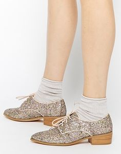 Dune - Loris - Chaussures plates - Eclat doré
