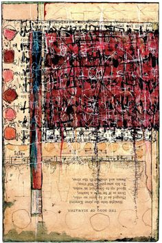 Asemic writing & collage - Nancy Bell Scott