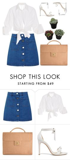 """""""Untitled #445"""" by inkcoherent ❤ liked on Polyvore featuring Miss Selfridge, Johanna Ortiz, Chanel and Alexandre Birman"""