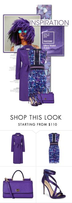 """""""Pantone's 2018 Colour of the Year is 'Ultra Violet'"""" by lifestyle-ala-grace ❤ liked on Polyvore featuring Emilio Pucci, Saloni, Dolce&Gabbana, Imagine by Vince Camuto and Lord & Taylor"""