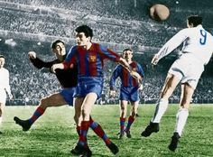 the great Alfredo Di Stefano scores for Real Madrid vs Barcelona