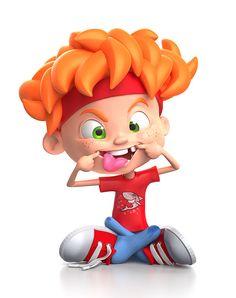 personajes 3D de niños , 001-jippi-cool-kid-characters-warner-mcgee