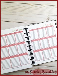 A Holiday Planner Notebook is the perfect way to stay on top of all your holiday planning! Life Planner, Happy Planner, Something Beautiful, Life Is Beautiful, Printable Planner, Printables, Organizing For A Move, Holiday Planner, Organize Your Life