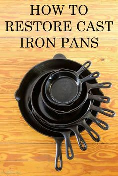 Great tutorial with the basics in restoring and caring for cast iron.