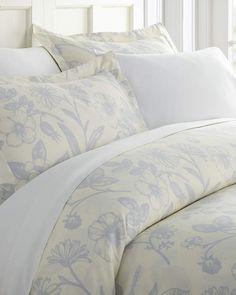 Premium Luxury 3 Piece Burst of Vines Print Duvet Cover Set Hotel Collection