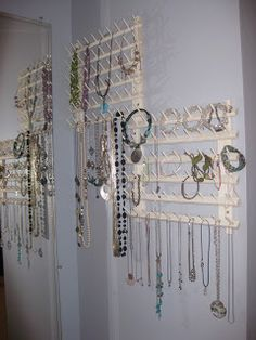 thread rack turned jewelry organizer