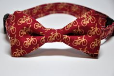 Boys Bowtie Red Bicycle Bow Tie by MeandMatilda on Etsy, $28.00