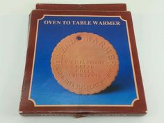 THE BREAD WARMER. Vintage terracotta pad. Keep rolls, buns, croissants hot