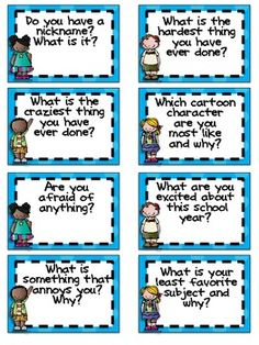 Getting to Know You Jar- A Back to School Activity.