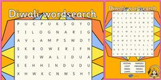 This lovely word search is great for helping to increase familiarity with the key language for this topic. Try having your children write a short passage afterwards using any new words they've found. Kids Writing, Writing Activities, Diwali Activities, Kids Word Search, Diwali Lamps, Short Passage, Diwali Party, Happy Diwali, Festival Lights
