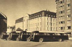 Moodsed autobused Tallinnas Pärnu maanteel 1939. aastal.