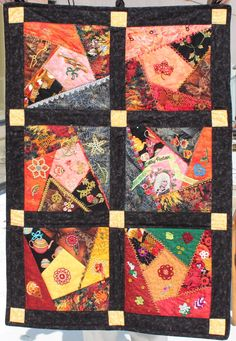 Crazy quilt with tatting