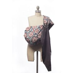 Modern Baby Sling in Red and Blue from @PoshTots #ling #baby #floral #mom