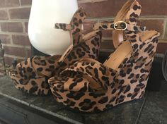 Worn once - size 7.5 women's platform cheetah shoes! Message for more pics, details, or with questions!   Mrschb2811@gmail.com  Would like to see 10 out of these plus shipping paid by buyer. Let's talk!