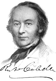Richard Cobden (1804-1865) was a member of the British Parliament and an advocate of free trade, a non-interventionist foreign policy, peace, and parliamentary reform. He is best remembered for his activity on behalf of the Anti-Corn Law League which helped reduce British tariffs in 1846 and for negotiating the Anglo-French trade agreement of 1860.