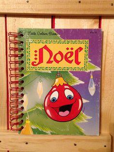 Noel Christmas journal repurposed little golden book. Christmas. Journal. Notebook. Little golden book.  on Etsy, $12.00
