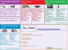 Professional #Processor provides a large number of meat processing equipment, which are of high quality and reasonable price. We assure you, that you will be satisfied with these excellent products. Compare it and buy it.