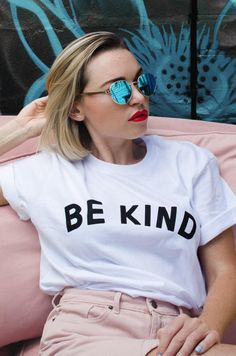 Be Kind Tee Be Kind Tee Record of Knitting String rotating, weaving and sewing careers such as BC. Even though decades, ev. Buy T Shirts Online, Aesthetic Shirts, Fashion Photography Poses, Slogan Tee, Your Style, Cool Outfits, Celebs, Trending Outfits, Unisex