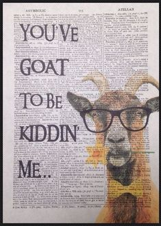CARLIN imprimé vintage Dictionary page Wall Art Photo Hipster Geek animal chien
