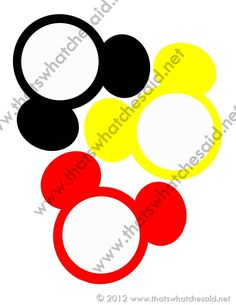Mickey Mouse Birthday Banner & Free Printable | That's What {Che} Said...