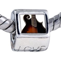 Pugster Bead Hollow Body Electric Guitar Beads Fits Pandora Bracelet Pugster. $12.49. Bracelet sold separately. Unthreaded European story bracelet design. Fit Pandora, Biagi, and Chamilia Charm Bead Bracelets. Hole size is approximately 4.8 to 5mm. It's the photo on the love charm