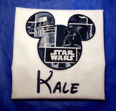 Star Wars Inspired Mouse Head Mickey Ears Applique T-Shirt for Children and Adults by CrayonCabin on Etsy https://www.etsy.com/listing/217314582/star-wars-inspired-mouse-head-mickey