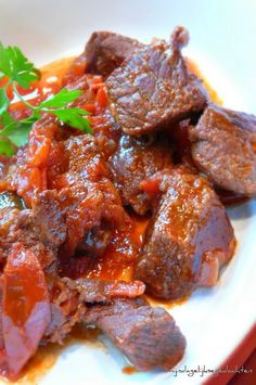 Kokkinisto- Greek beef stew