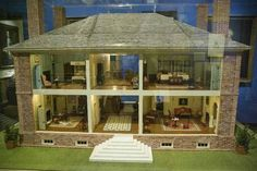 This photo shows a model of the Wilton House, an 18th century Plantation house that overlooks the James River. Built in 1753 for William Randolph III, Wilton House was the home to the Randolph family for more than a century.