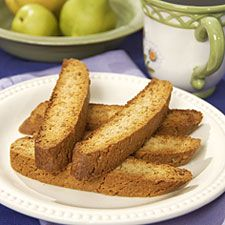 GInger Biscotti - with diced crystallized ginger, you can't have too much ginger in your life.