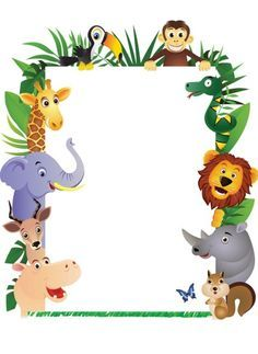 Jungle party personalised invitations - click on the links below to download the Jungle Party invitation for personalised invitation card printing.