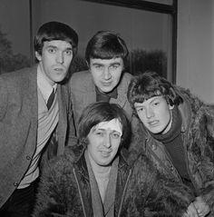 The Spencer Davis Group; From left: Muff Winwood, Pete York, Spencer Davis (sitting), and Steve Winwood, c. 1966