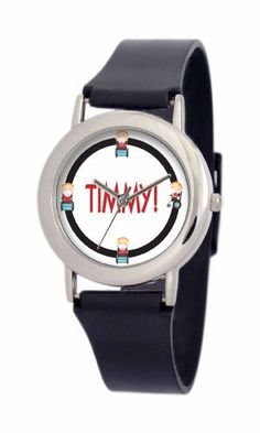 South Park Men's D1553SS414 Torino Collection Timmy Black Plastic Strap Watch South Park. $29.99. Quality and precise Japanese-quartz movement. Plastic watch strap with buckle. Durable mineral crystal. South Park artwork. Water-resistant to 99 feet (30 M). Save 25%!