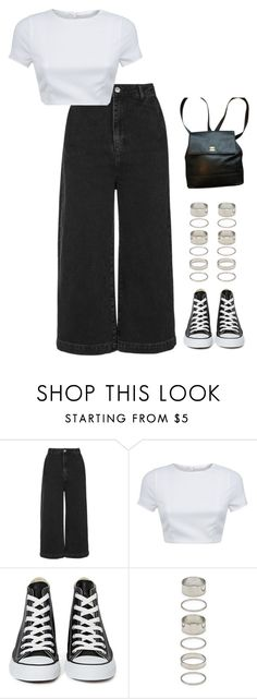 """""""Untitled #866"""" by streetyouth ❤ liked on Polyvore featuring Topshop, AQ/AQ, Converse, Forever 21 and Chanel"""