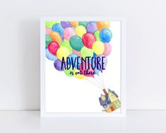 Adventure Is Out There Watercolor Painting Art Print disney Cute Canvas, Canvas Art, Blank Canvas, Canvas Crafts, Canvas Paintings, Watercolor Walls, Watercolor Paintings, Watercolor Disney, Watercolor Christmas