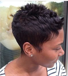 Easy Short Hairstyles for Black Women 2019 - The UnderCut Boyish-Haircut-for-Black-Girls Easy Short Hairstyles for Black Women 2019 Short Sassy Hair, Short Hair Styles Easy, Short Hair Cuts, Curly Hair Styles, Natural Hair Styles, Pixie Cuts, Short Pixie, Cute Short Haircuts, Cute Hairstyles For Short Hair