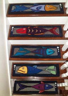 Best Latest Set Of Hand Hooked Stair Treads From Theoldloft On 400 x 300