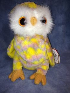 RARE Retired Ty Beanie Baby Twilight The Halloween Owl Bird 6