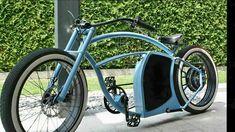 The E-Bike Enorm Custom Cruiser Is Powerful, Futuristic & Wild On The Streets! Electric Beach, Electric Bicycle, Leather Bicycle, Motorised Bike, Lowrider Bike, Cruiser Bicycle, Look Retro, Chopper Bike, Bike Style