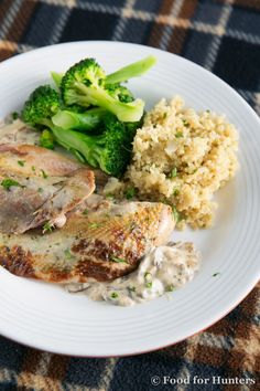 Food for Hunters: Roasted Pheasant with Mushroom Cream Sauce