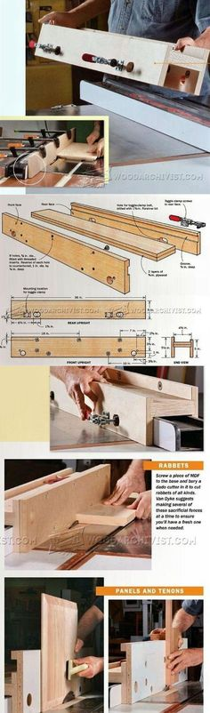 Table Saw Rip Fence Jig - Table Saw Tips, Jigs and Fixtures | WoodArchivist.com
