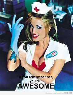 Blink 182 Nurse Costume Now Sir Just bend over Nurse Halloween Costume, 90s Costume, Sexy Nurse Costume, Halloween Eve, Costume Parties, Halloween Ideas, Lilith Demon, Blink 182 Albums, Blink 182 Nurse